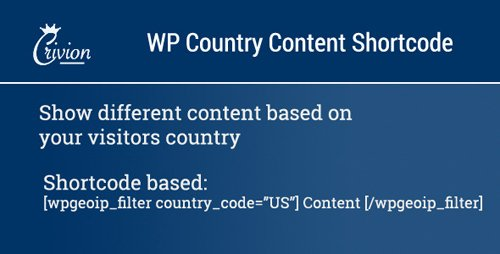 CodeCanyon - WP Country Specific Content v1.1 - 6672634