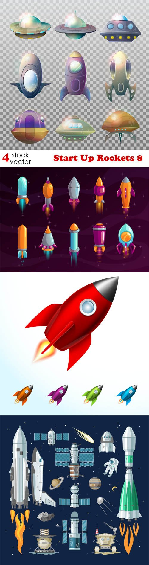 Vectors - Start Up Rockets 8