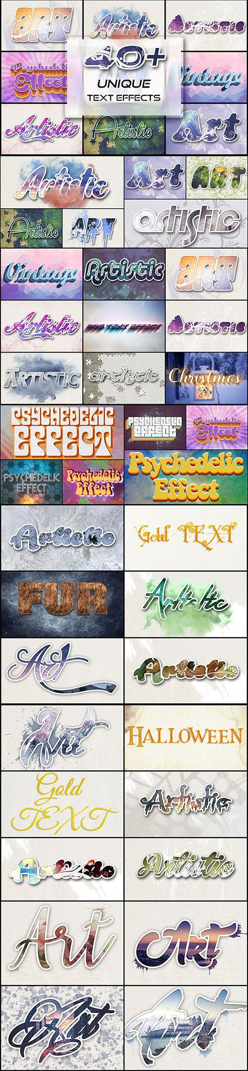 CreativeMarket - 40+ Unique Text Effects To Trendify 3062797