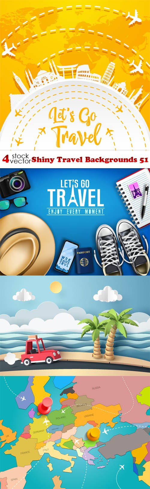 Vectors - Shiny Travel Backgrounds 51