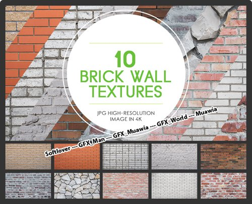 10 Brick Wall Textures in 4K