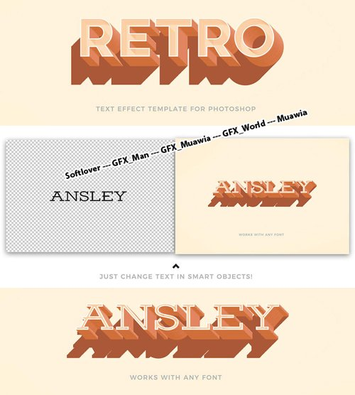 Retro Text Effect for Photoshop