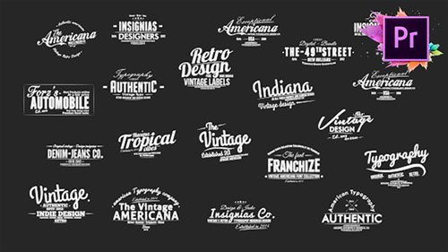 Vintage Typography Pack 26 Animated Badges | Mogrt - Project for After Effects & Premiere Pro Templates (Videohive)
