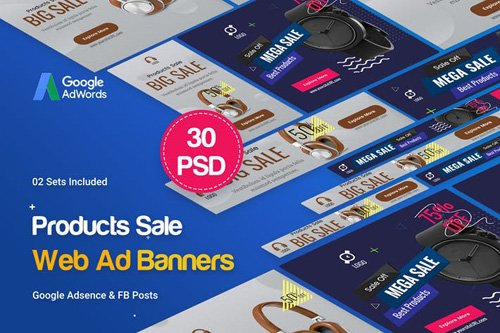 Product Banners Ad - 30 PSD [02 Sets] - G27V8W