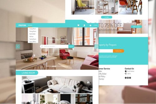 Proponi Property Store Adobe XD Template