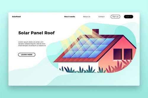 Solar Panel Roof - Banner & Landing Page