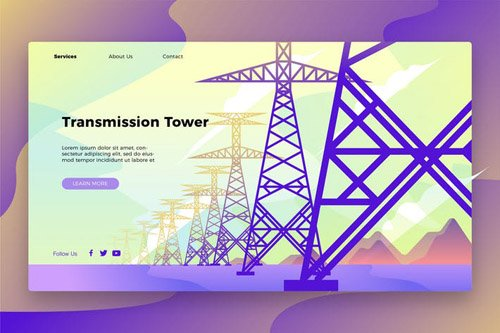 Transmission Tower - Banner & Landing Page
