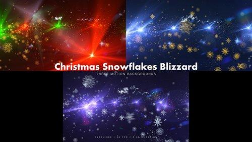 Christmas Snowflakes Blizzard 14058212
