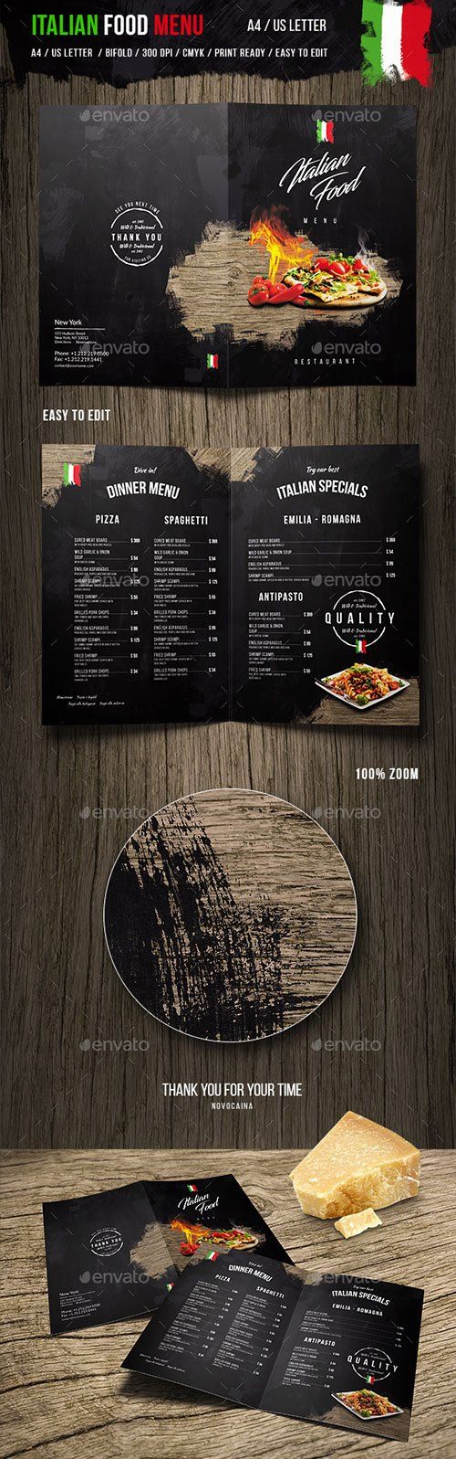 Graphicriver - Italian Food Menu - A4 and US Letter 19981197