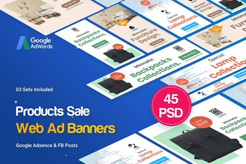 Product Banners Ad - 45PSD [03 Sets]