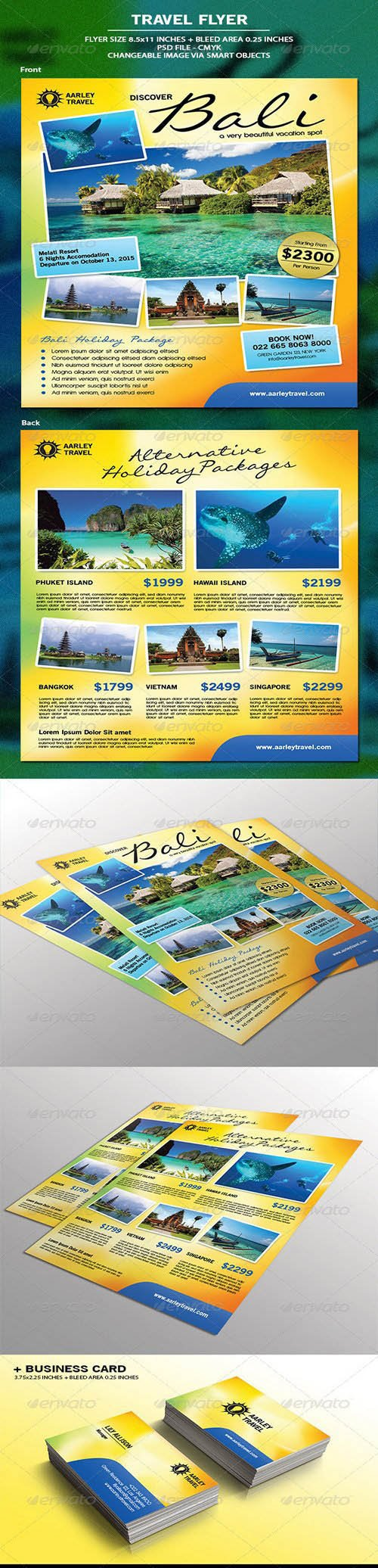 Graphicriver - Travel Flyer + Business Card 6867642