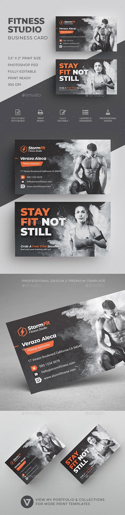 GraphicRiver - Fitness Business Card 22510382