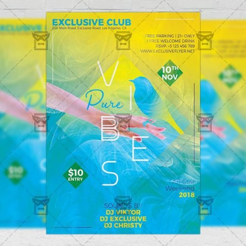 Club A5 Template - Pure Vibes Flyer