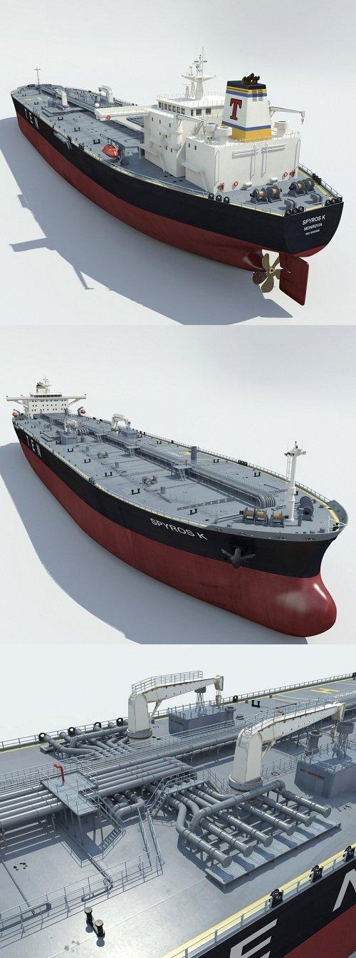 Ship Tanker 3d Model