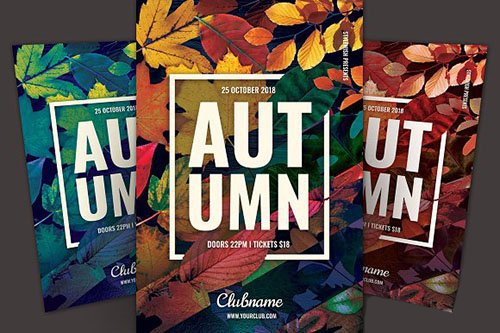 CreativeMarket - Autumn Flyer 2878486
