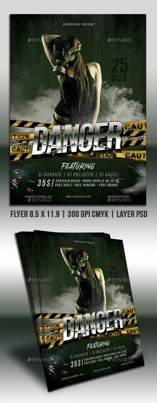 GraphicRiver - Danger Party Flyer 22489462