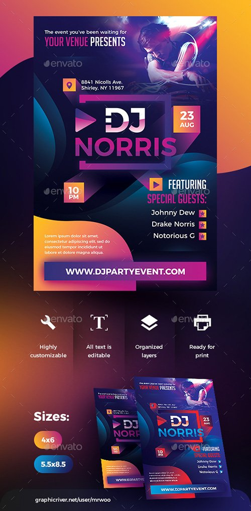 GraphicRiver - Dj Party Flyer 22490472