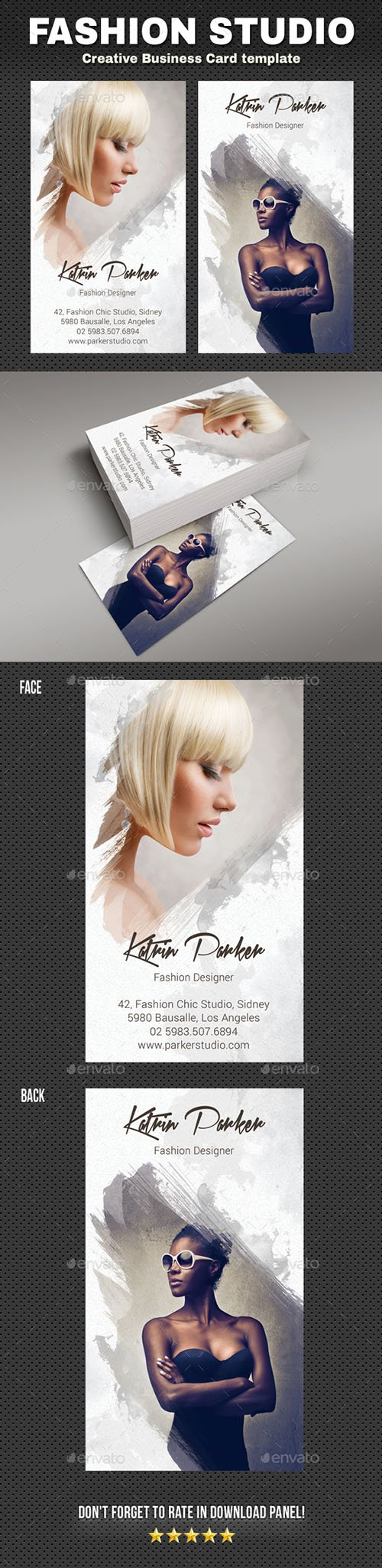 GraphicRiver - Fashion Studio Business Card 22480383