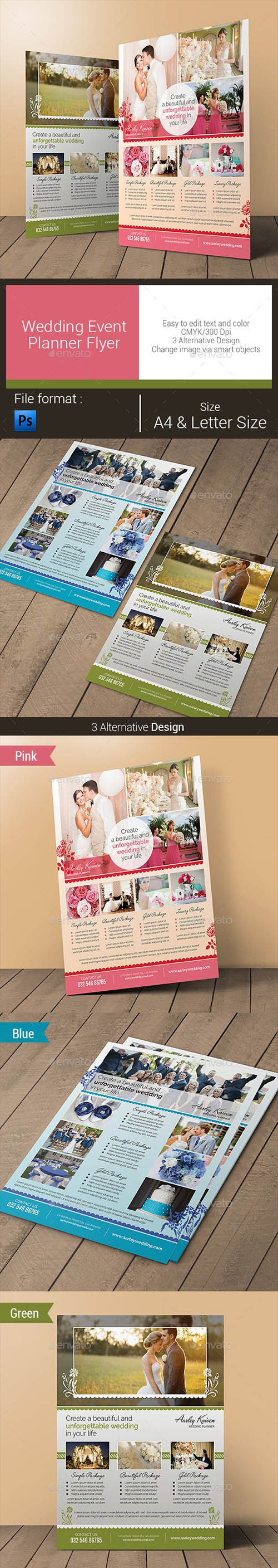 GR - Wedding Event Planner Flyer 10796720