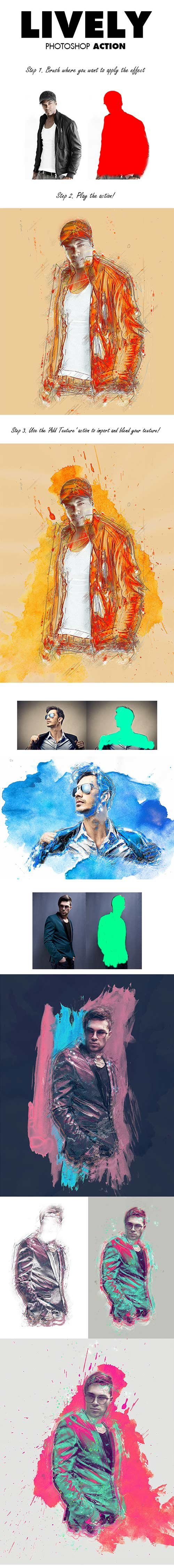 GraphicRiver - Lively Photoshop Action 8871107