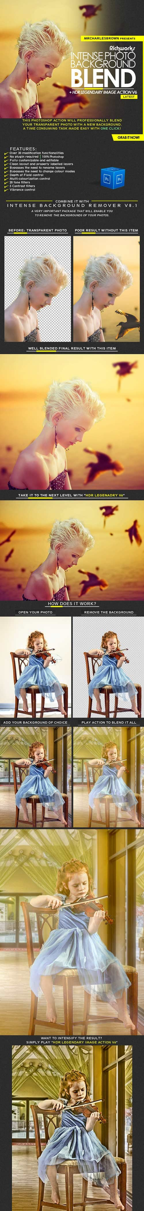 GraphicRiver - Intense Photo Background Blend 22426021