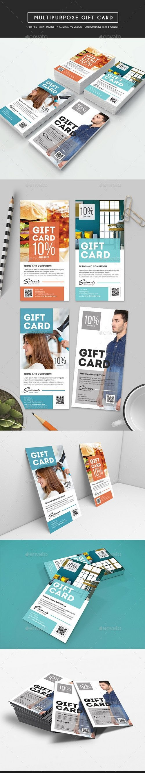 Graphicriver - Multipurpose Voucher / Gift Card 17211490