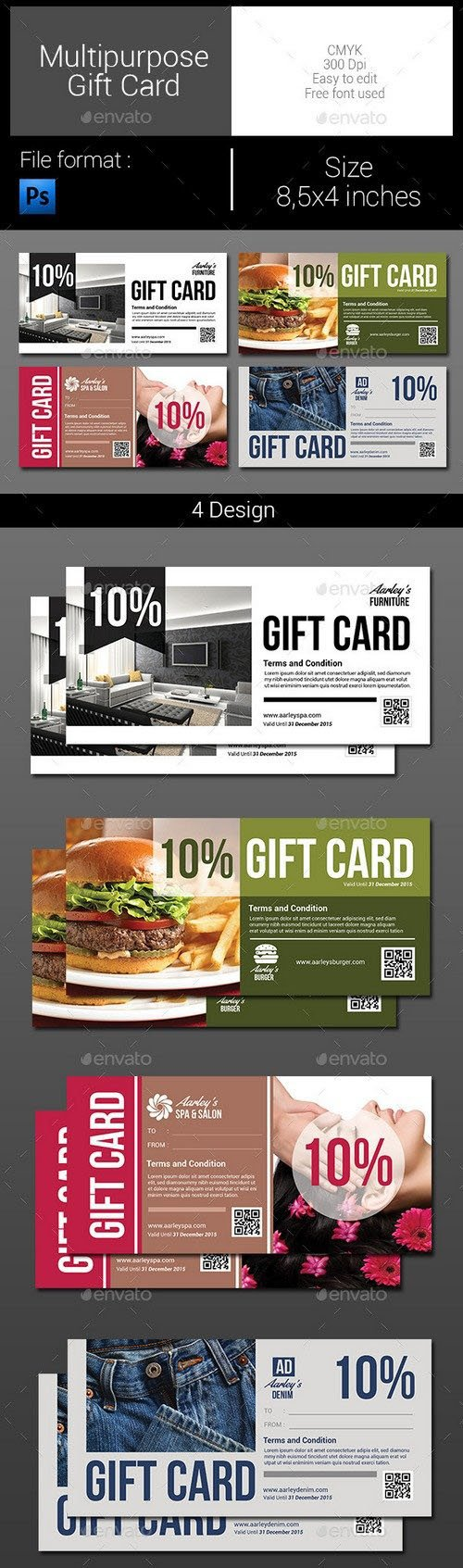 Graphicriver - Multipurpose Gift Card 9966465