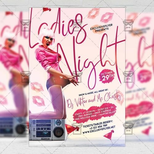 Club A5 Template - Ladies Night Flyer