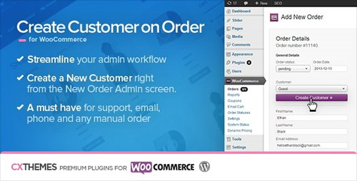 CodeCanyon - Create Customer on Order for WooCommerce v1.34 - 6395319