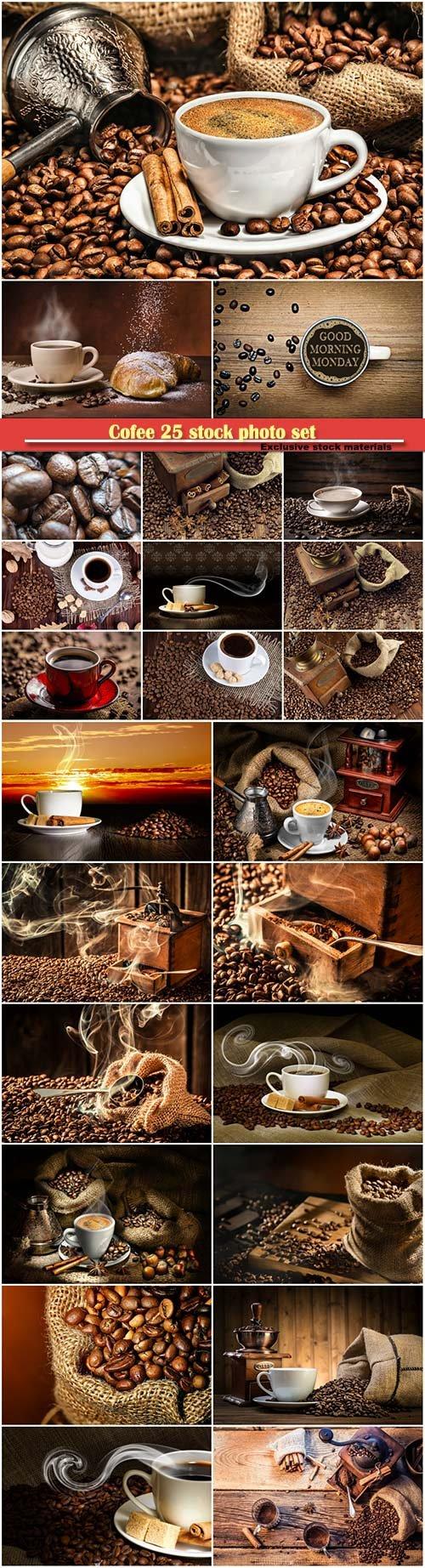 Cofee 25 stock photo set