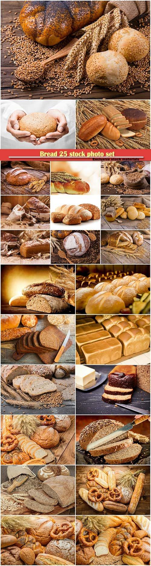 Bread 25 stock photo set