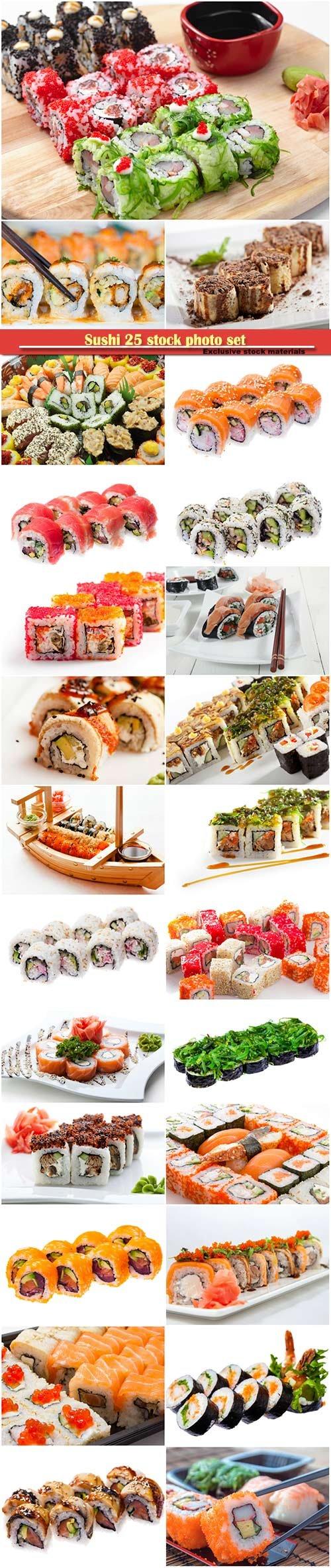 Sushi 25 stock photo set