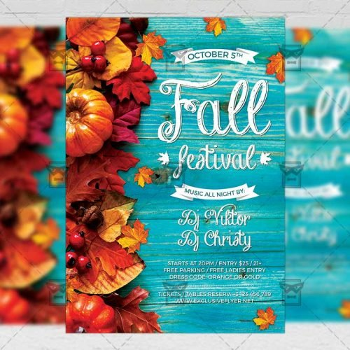 Fall Festival Flyer - Seasonal A5 Template