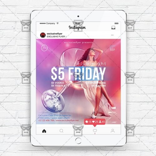 Friday Night - Instagram Flyer Template