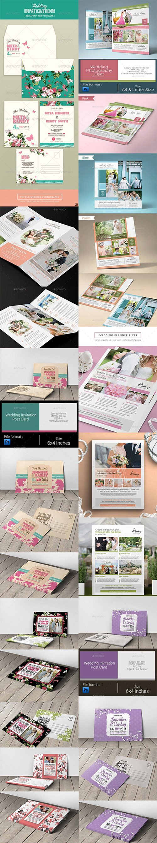 Wedding Invitation & Flyers Set