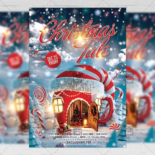 Christmas Tale - Seasonal A5 Flyer Template