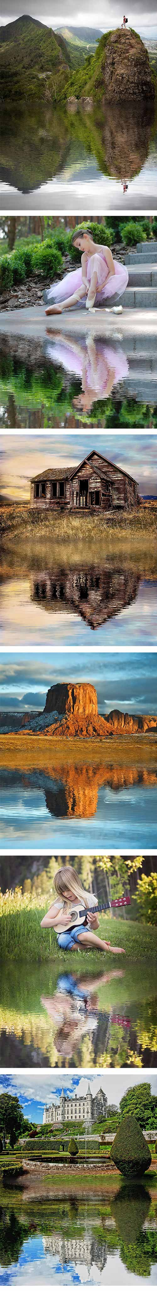 GraphicRiver - Water Reflection Photoshop Action 22367424