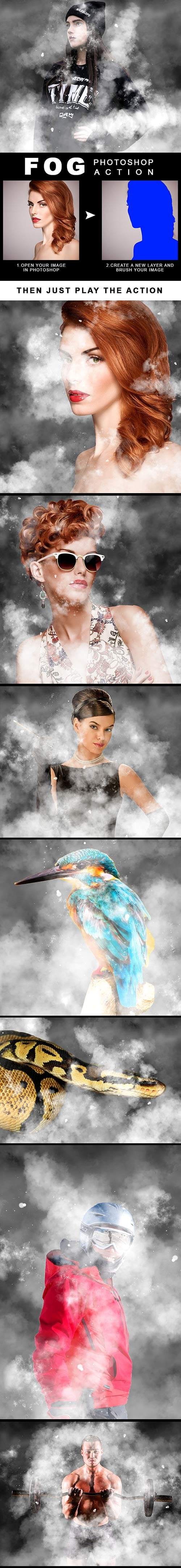 GraphicRiver - Fog Effect Photoshop Action 22383532