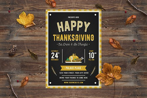 PSD Happy Thanksgiving Flyer