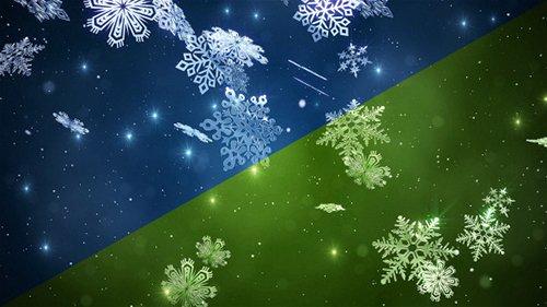 Videohive - Christmas Snowflakes Loop 6371366