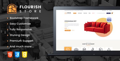 ThemeForest - Flourish v1.0 - eCommerce HTML5 Template - 22371936