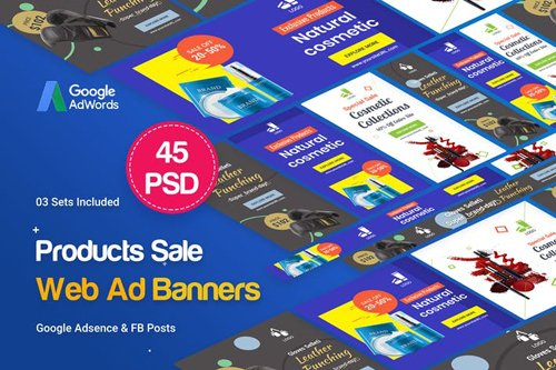 Product Banners Ad - 45 PSD [03 Sets] - 476NAB