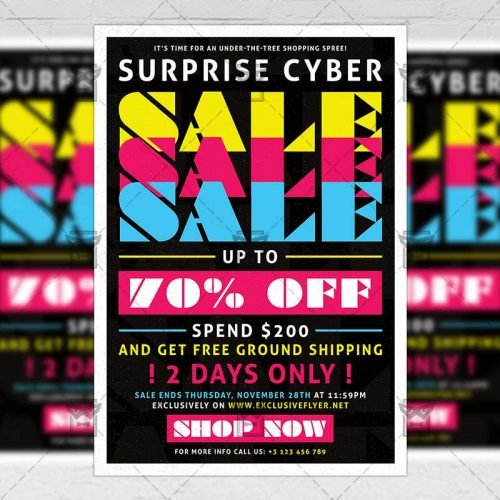 Community A5 Flyer Template - Cyber Sale