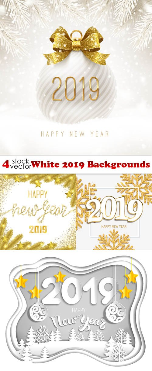 Vectors - White 2019 Backgrounds