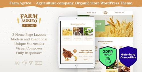 ThemeForest - Farm Agrico v1.1 - Agricultural Business WordPress Theme - 21848343