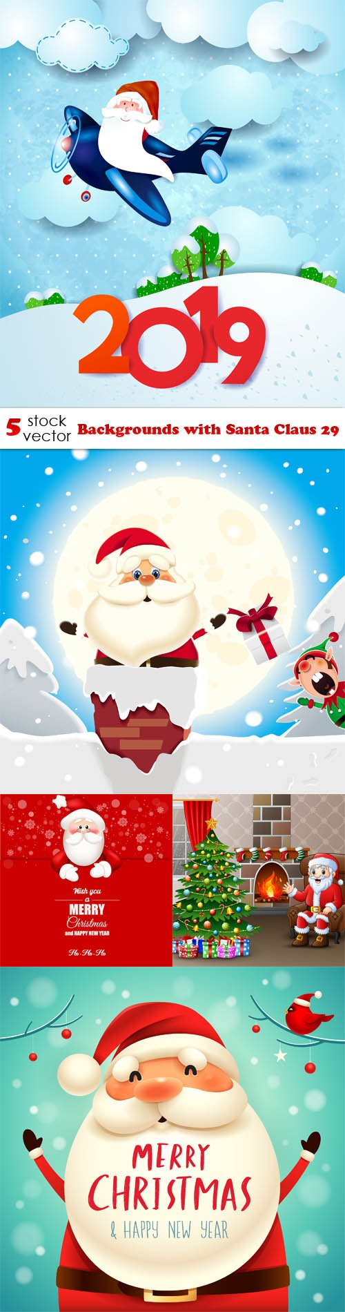 Vectors - Backgrounds with Santa Claus 29