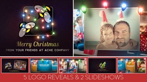 Christmas Lights Logo & Slideshow - Project for After Effects (Videohive)