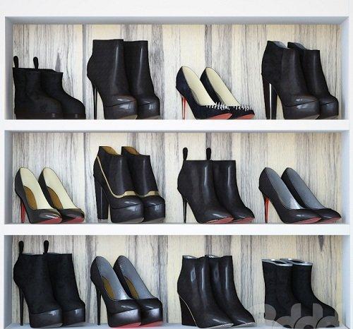 Woman shoes set - black