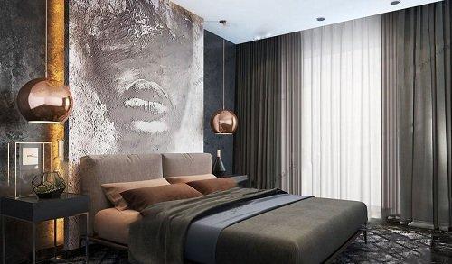Modern Bedroom Interior Scene 18