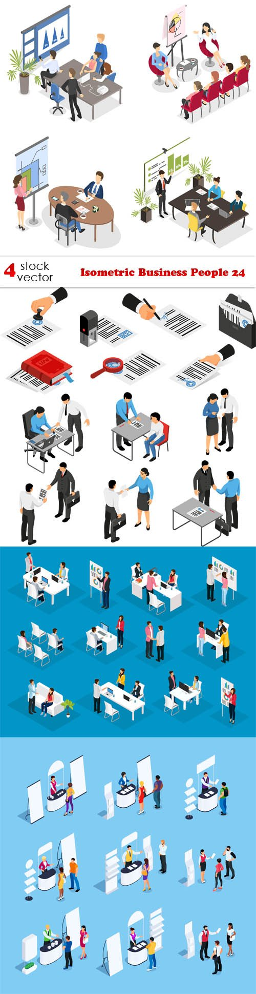 Vectors - Isometric Business People 24